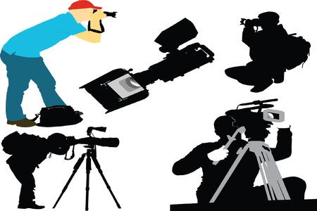 Photographer and film camera