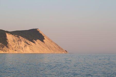 the black sea: Mountain coastline evening in Crimea. Black sea