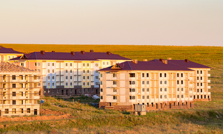 out of town: Construction of apartment buildings out of town Stock Photo