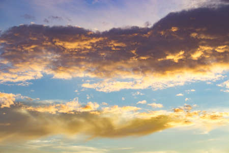 Blue sky and clouds background in the evening Stock Photo