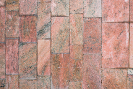 Tile smooth red marble background in the daytime Stock Photo