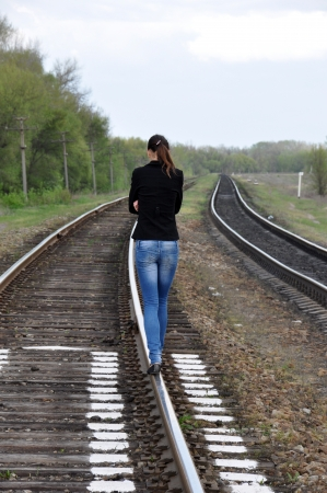 goes: Distressed girl goes by rail