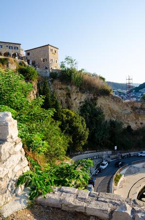 The wall of Stari Grad - old town of Ulcinj, Montenegro