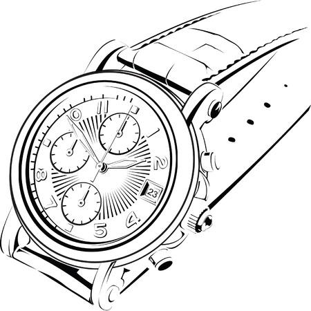 manual watch Vector