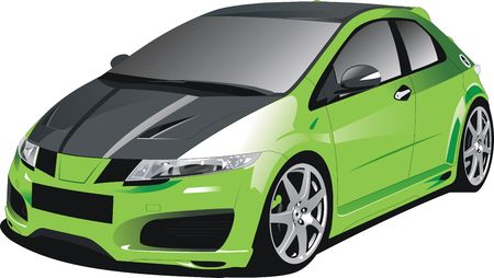the sport car vector image Stock Photo