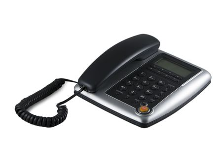 Business telefono su sfondo bianco