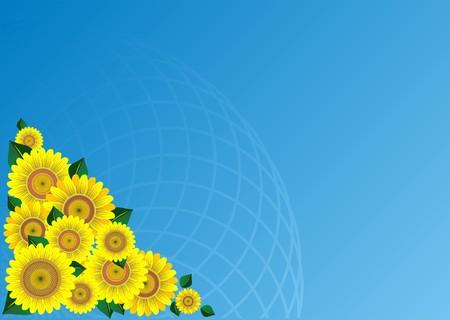 Sunflower border Stock Vector - 8404847