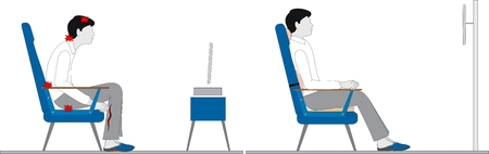 posture: Men before tv  Illustration