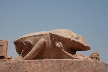 Great scarab near the Sacred lake of Karnak temple, Egypt Stock Photo - 13055088