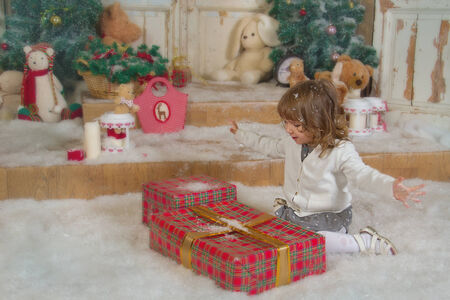 Girl rejoices gifts