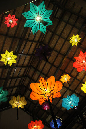Colorful Chinese lanterns in Thailand