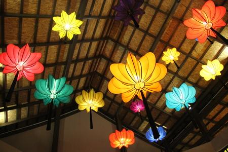 Colorful Lanterne cinesi in Thailandia