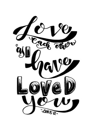 919 bible verse stock vector illustration and royalty free bible Wall Plaque Be Still and Know That I AM love each other as i have loved you hand drawn lettering bible verse