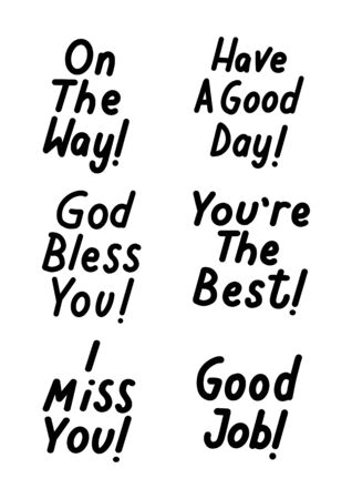 God Bless You. Hand drawn lettering phrase and illustrations. Modern Brush Calligraphy For blog and social media. Motivation and Inspiration Quotes. Design For Greeting Cards, Prints, Poster. 일러스트