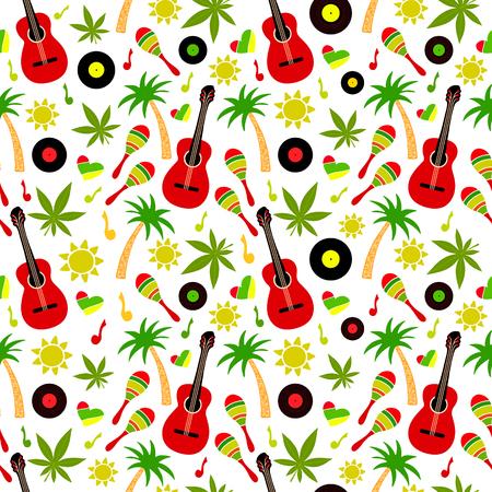 Reggae seamless vector pattern Illusztráció
