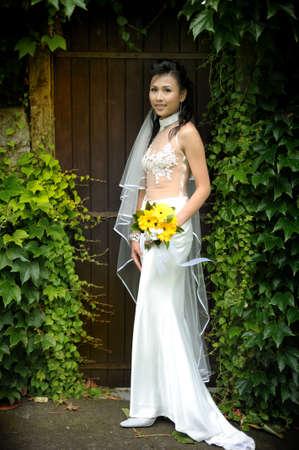 Outdoor wedding bridal fashion shoot