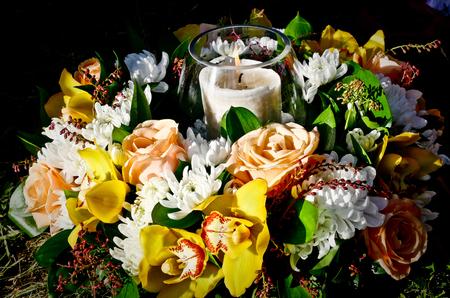 葬儀の花 写真素材