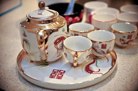tea pots for a wedding ceremony
