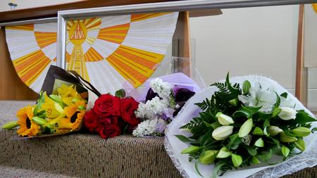 Kieliszek Flower & świeca użyta do pogrzebu