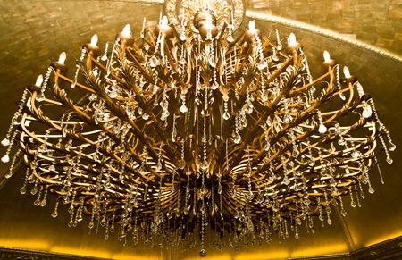 closeup shot of chandelier