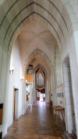Wnętrze szeroki strzał z kaplicy pogrzebowej