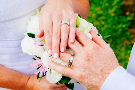 Closeup shot of wedding or engagement ring