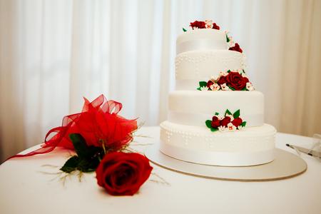 Shot of Wedding cake and decoration