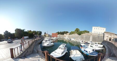 Croatia, Ancient buildings at Zadar old town Stock Photo