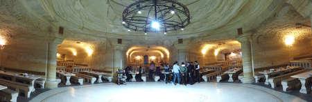restaurant inside a cave at the underground city, Cappadocia, Turkey