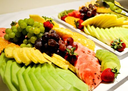 Different variety of fruit platter Stock Photo