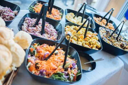 delicious buffet in restaurants and hotels