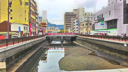 Nagasaki, Japan, 1st of Jan 2020, Nagasaki Shinchi Chinatown is the oldest Chinatown in Japan which becomes the center of the Nagasaki Lantern Festival during Chinese New Year