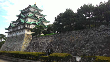 Nagoya, Japan, 1st of Jan 2020, Nagoya Castle was built in the beginning of the Edo Period, constructed by feudal lord Ieyasu Tokugawa in the 17th century