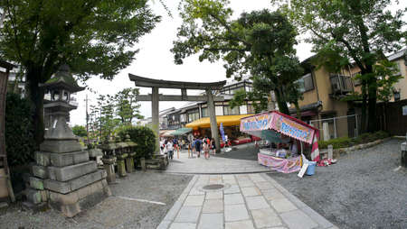 Kyoto, Japan, 1st Jan 2020, inside the Fushimi Inari Taisha Shinto shrine which is famous for its thousands of vermilion torii gates along the trails to the sacred Mount Inari, Editorial
