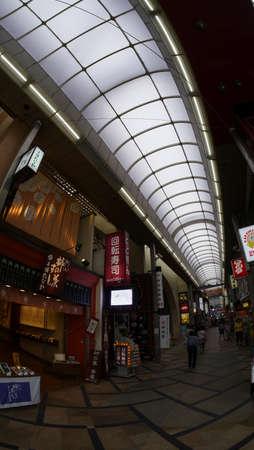 Osaka, Japan, 1st Jan 2020, place of interest, tourist spots and busy shopping street of Osaka