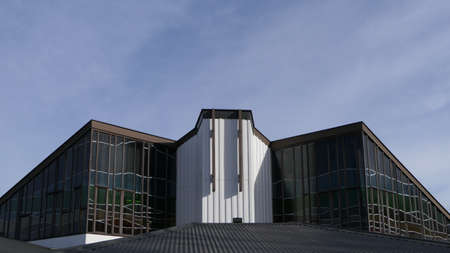shot of religious christian or catholic chapel and altar for worshippers Editorial