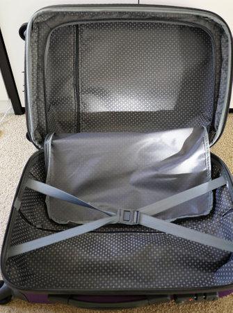 Cargo traveler suitcase with wheels Stockfoto