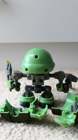 Japanese mechanized action figurines robots and human droids Editorial