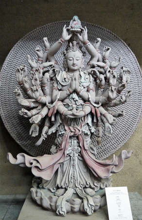 stone buddha found in the temple or worship outdoor