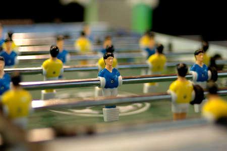 closeup shot of a table soccer