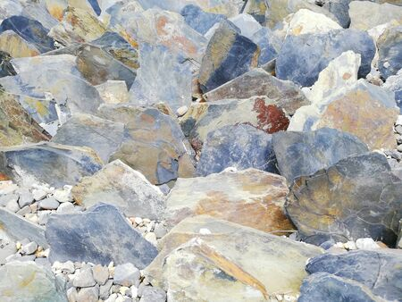 Colorful rocks for outdoor decoration