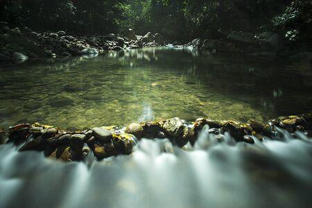 river scape: A refreshing river at Penampang, Sabah, Malaysia