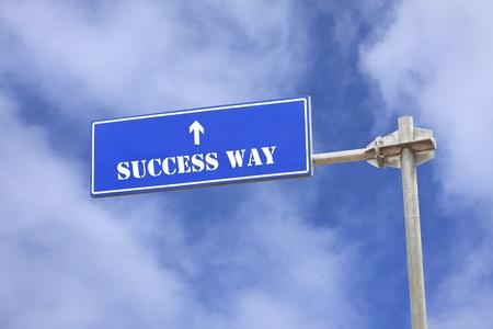 Success topic road sign