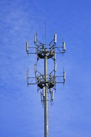 Signal tower of mobile phone Stock Photo