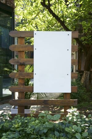 Blank sign post