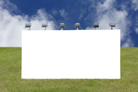Blank signpost in grassland                         Stock Photo