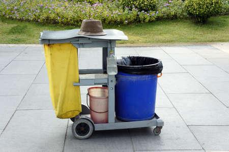 environmental sanitation: Environmental sanitation barrow in the park
