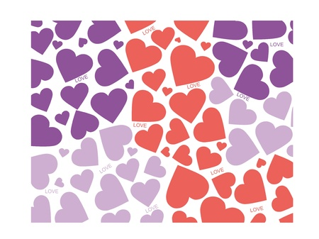 Colorful hearts Illustration