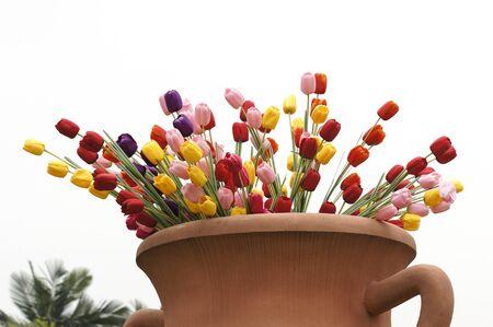 assort: Assort tulips in jar Stock Photo