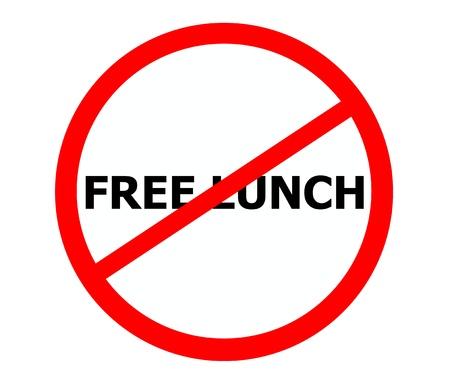 Geen gratis lunch